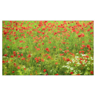 Wonderful poppy flowers VII - Wundervolle Mohnblum Fabric