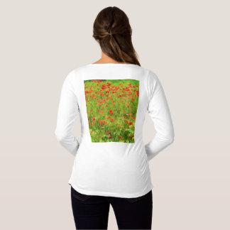 Wonderful poppy flowers VII - Wundervolle Mohnblum Maternity T-Shirt