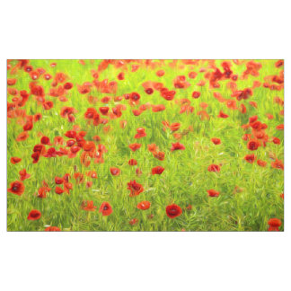 Wonderful poppy flowers VIII - Mohnbluhmen Fabric