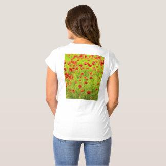 Wonderful poppy flowers VIII - Mohnbluhmen Maternity T-Shirt