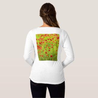 Wonderful poppy flowers VIII - Wundervolle Mohnblu Maternity T-Shirt