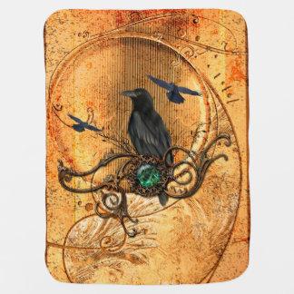 Wonderful raven baby blanket