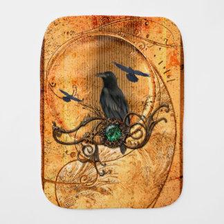 Wonderful raven burp cloth