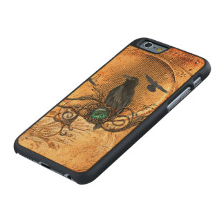 Wonderful raven carved maple iPhone 6 case