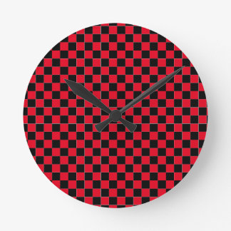 Wonderful red checkered wall clock