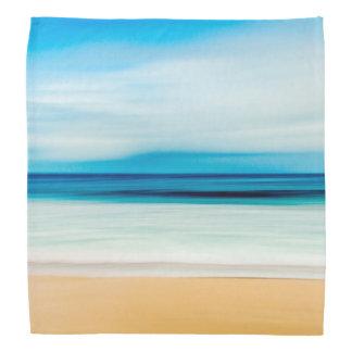 Wonderful Relaxing Sandy Beach Blue Sky Horizon Bandana
