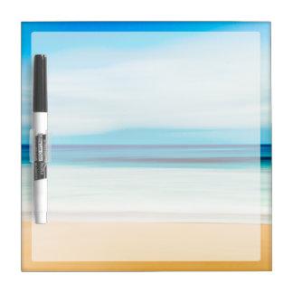 Wonderful Relaxing Sandy Beach Blue Sky Horizon Dry Erase Board