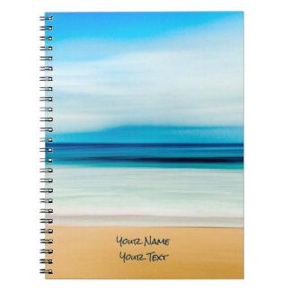 Wonderful Relaxing Sandy Beach Blue Sky Horizon Notebooks