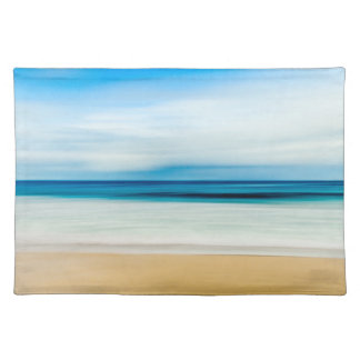 Wonderful Relaxing Sandy Beach Blue Sky Horizon Placemat