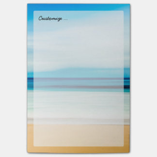Wonderful Relaxing Sandy Beach Blue Sky Horizon Post-it Notes