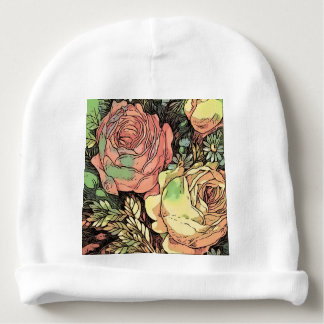 Wonderful Roses Baby Beanie