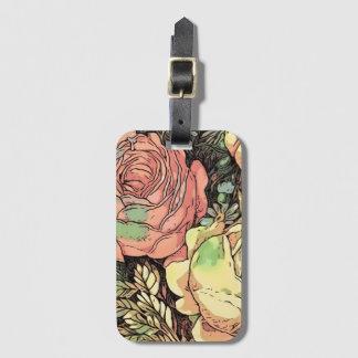 Wonderful Roses Luggage Tag