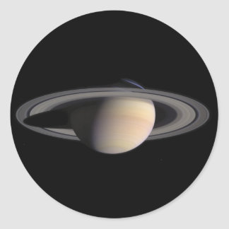 Wonderful Saturn Picture from NASA Round Sticker