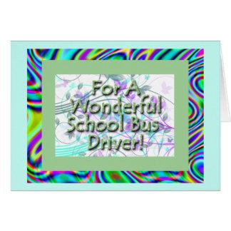 Wonderful School Bus Driver! Card