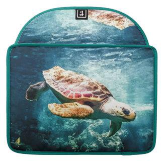 Wonderful  Sea Turtle Ocean Life Turquoise Sea MacBook Pro Sleeves