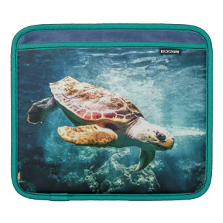 Wonderful  Sea Turtle Ocean Life Turquoise Sea Sleeves For iPads