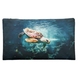 Wonderful Sea Turtle Underwater Life Cosmetics Bags
