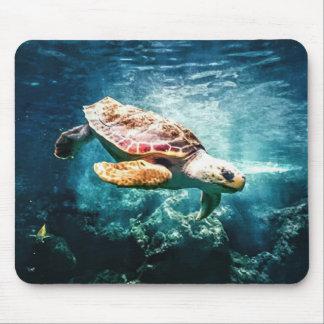 Wonderful Sea Turtle Underwater Life Mouse Pad
