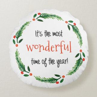 Wonderful Season   Christmas Pillow