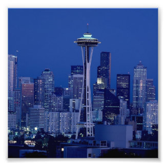 Wonderful Seattle Washington Downtown Space Needle Photo Print