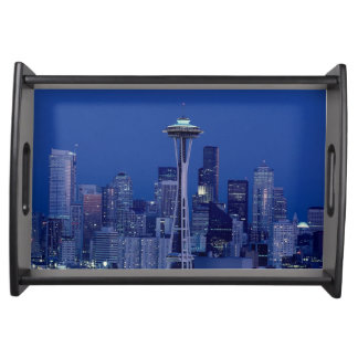 Wonderful Seattle Washington Downtown Space Needle Serving Tray