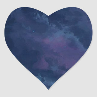 wonderful Star Gaze SKY - Gifts Greetings Dark FUN Heart Sticker