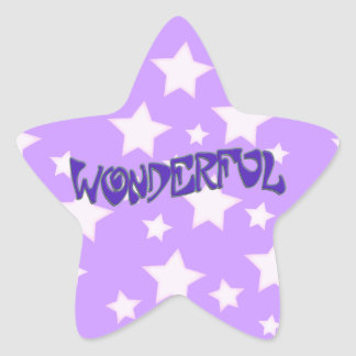 Wonderful Star Sticker