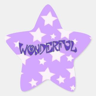 Wonderful Star Sticker