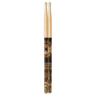 Wonderful steampunk design drumsticks