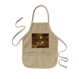 Wonderful steampunk in golden colors kids apron