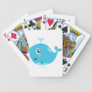 Wonderful t-shirts with Whale blue Bicycle Playing Cards