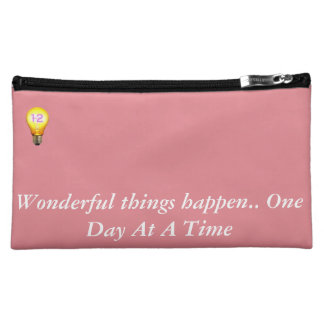 Wonderful things happen.. One Day At A Time Makeup Bag