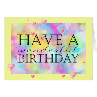 Wonderful Watercolor Birthday Wishes (Card) Card