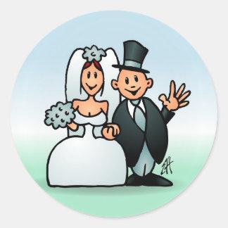 Wonderful Wedding Round Sticker