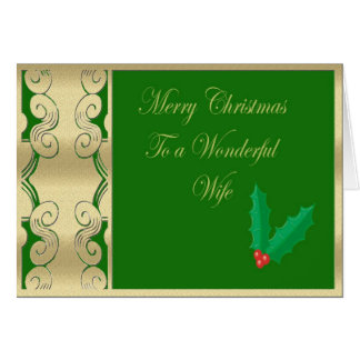 Wonderful wife merry Christmas Greeting Card