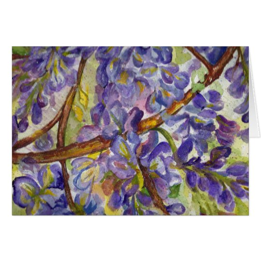 Wonderful Wisteria Watercolor Painting Card