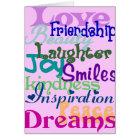 Wonderful Words Card