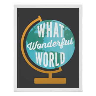 Wonderful World Globe Art Print