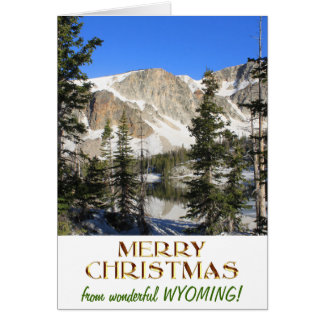 Wonderful Wyoming Merry Christmas Card