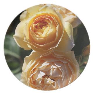 Wonderful Yellow Roses Melamine Plate
