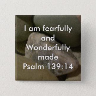 Wonderfully Made 15 Cm Square Badge