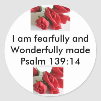 Wonderfully Made Round Sticker