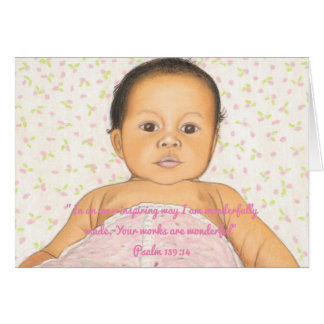Wonderfully Made~Scripture~Baby Card