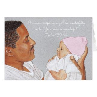 Wonderfully Made~Scripture~Newborn & Dad Card