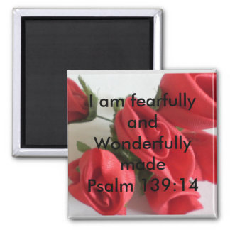 Wonderfully Made Square Magnet