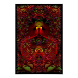 Wonderland Abstract Psychedelic Fractal Art Poster