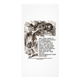 Wonderland Alice Go Among Mad People Quote Photo Card Template