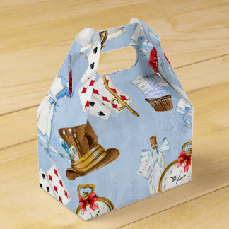 Wonderland Alice Pattern Party Favour Box