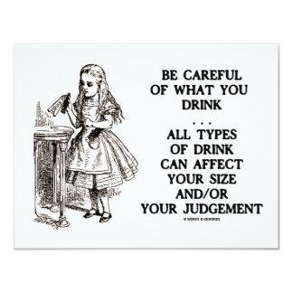 Wonderland Be Careful What You Drink (Alice) 11 Cm X 14 Cm Invitation Card