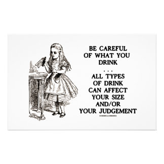 Wonderland Be Careful What You Drink (Alice) Stationery